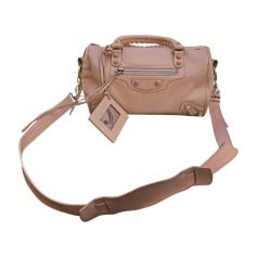 Leather Shoulder Bag BALENCIAGA Nude