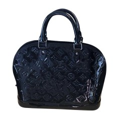 Leather Handbag LOUIS VUITTON Alma Black