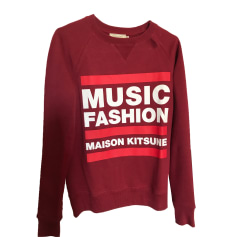 Sweat MAISON KITSUNÉ Rouge, bordeaux