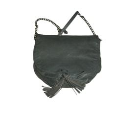 Leather Shoulder Bag IKKS Blue, navy, turquoise