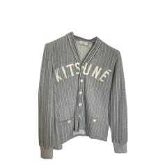 Vest, Cardigan MAISON KITSUNÉ Gray, charcoal