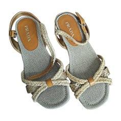 Heeled Sandals PRADA Beige, camel