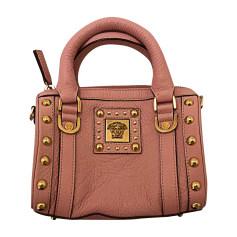 Leather Handbag VERSACE Pink, fuchsia, light pink
