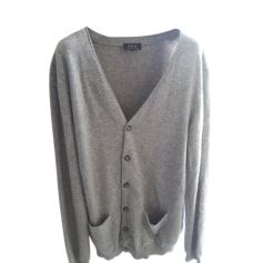 Vest, Cardigan A.P.C. Gray, charcoal