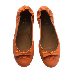 Ballerines FENDI Orange