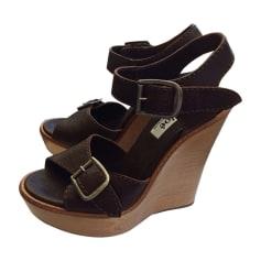 Wedge Sandals CHLOÉ Brown