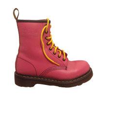Bottines & low boots plates DR. MARTENS Rose, fuschia, vieux rose