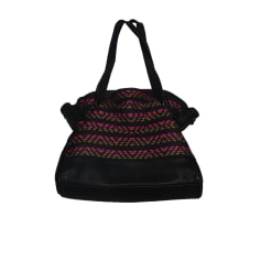 Leather Handbag COMPTOIR DES COTONNIERS Black