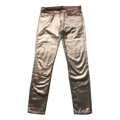 Skinny Jeans 7 FOR ALL MANKIND Golden, bronze, copper