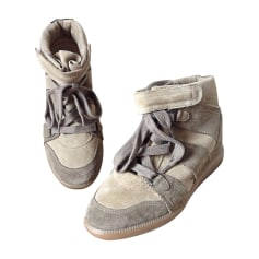 Baskets ISABEL MARANT Bobby Gris, anthracite