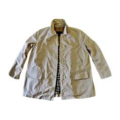 Coat BURBERRY White, off-white, ecru