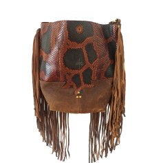 Leather Shoulder Bag JEROME DREYFUSS Animal prints