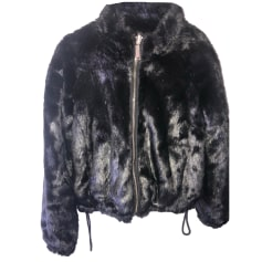 Blouson, veste en fourrure PINKO Noir