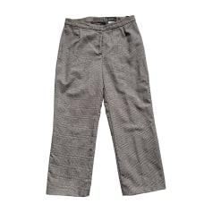 Skinny Pants, Cigarette Pants VERSACE Gray, charcoal