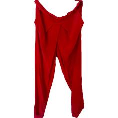 Pantalon carotte ATHÉ VANESSA BRUNO Rouge, bordeaux