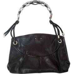 Leather Handbag SERGIO ROSSI Black