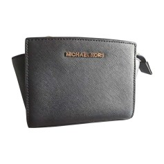 Leather Shoulder Bag MICHAEL KORS Black