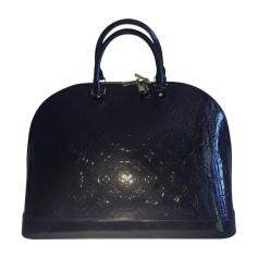 Leather Handbag LOUIS VUITTON Alma Blue, navy, turquoise