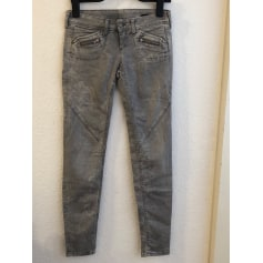 Pantalon slim, cigarette BENETTON Gris, anthracite
