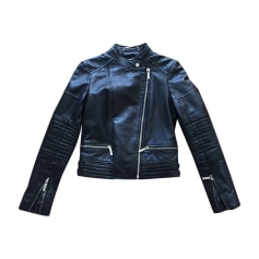 Leather Jacket MICHAEL KORS Black