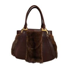 Leather Handbag VALENTINO Brown