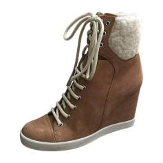 Bottines & low boots à compensés SEE BY CHLOE Beige, camel