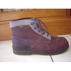 Chaussures à lacets  KICKERS Violet, mauve, lavande