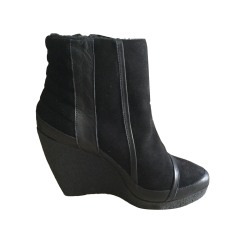 Wedge Ankle Boots THE KOOPLES Black