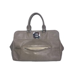 Leather Handbag LONGCHAMP Taupe