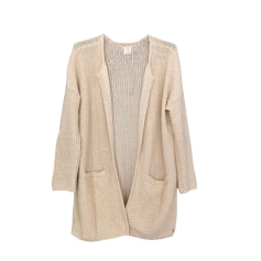 Vest, Cardigan DES PETITS HAUTS White, off-white, ecru