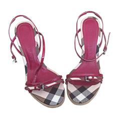 Wedge Sandals BURBERRY Pink, fuchsia, light pink