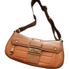 Leather Handbag DIOR Beige, camel