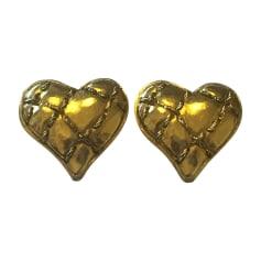 Boucles d'oreille SONIA RYKIEL Doré, bronze, cuivre