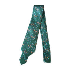 Tie HERMÈS Green