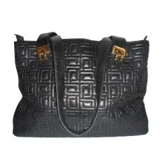 Leather Handbag LANCEL Black