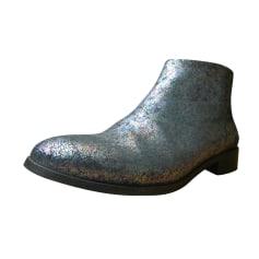 Bottines & low boots plates MELLOW YELLOW Argenté, acier