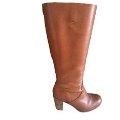 High Heel Boots IKKS Beige, camel