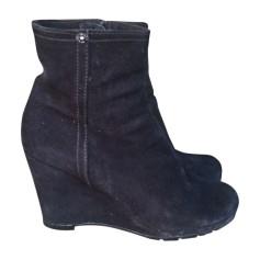 Wedge Ankle Boots PRADA Black