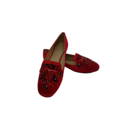 Ballet Flats TORY BURCH Red, burgundy