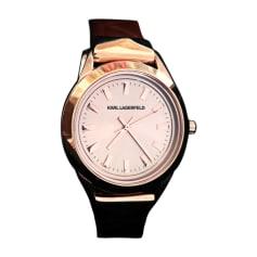 Wrist Watch KARL LAGERFELD Golden, bronze, copper