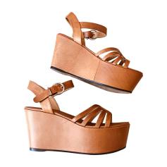 Sandales compensées BARBARA BUI Beige, camel