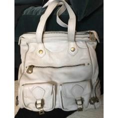 Leather Oversize Bag White, off-white, ecru