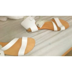Sandales plates  BAGATT Blanc, blanc cassé, écru