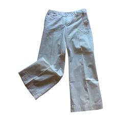 Pantalon large RALPH LAUREN Blanc, blanc cassé, écru