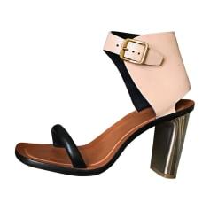 Heeled Sandals CÉLINE Beige, camel