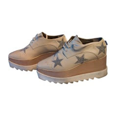 Chaussures à lacets  STELLA MCCARTNEY Beige, camel