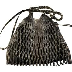 Leather Shoulder Bag SONIA RYKIEL Gray, charcoal