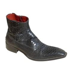 Santiags, bottines, low boots cowboy JO GHOST Noir