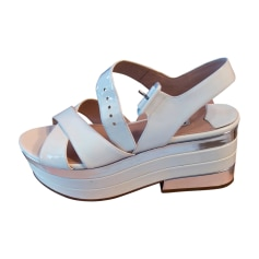 Wedge Sandals MIU MIU Silver