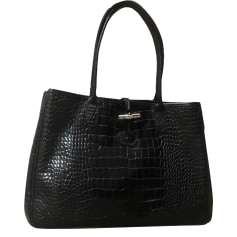 Sac à main en cuir LONGCHAMP NOIR BRILLANT